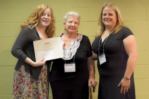 Anna Helton (left), Anita Sanford Tolson (center) and Allison M. Hunt