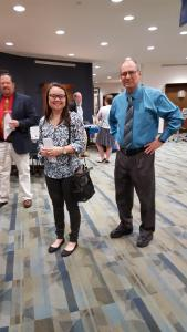 Betts Award Winner, Taylor Burchett of Georgetown College (center) with Dr. Thomas Matijasic of Big Sandy CTC and former KATH president