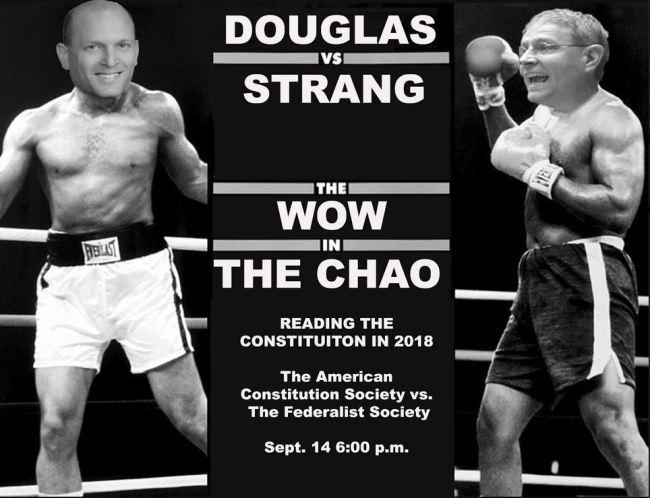 Douglas vs. Strang in a boxing ring
